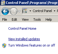 view_installed_updates